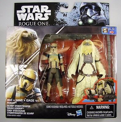Star Wars Rogue One 2-pack Moroff & Scarif Stormtrooper 3.75 inch MISB