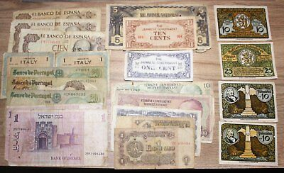 World Banknotes, 20 all different. Used Condition  *World20. 3*