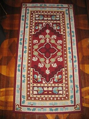 """Hand Hooked Wool Rug by Local Rug Hooker  ES FROST DESIGN ~ORIENTAL~ 72"""" by 37"""""""