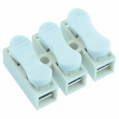 10 x 3-Way Screwless Spring Wire Connector Terminal Block