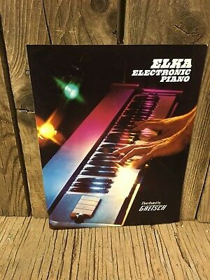 Vintage 1970s ELKA electronic piano by GRETSCH promo ad Brochure Fender Rhodes