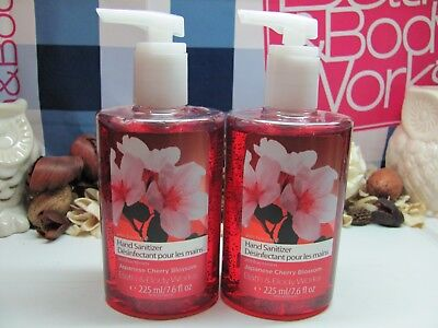 Bath and Body Works  2 Japanese Cherry Blossom Large Hand Sanitizer 7.6 fl oz ea