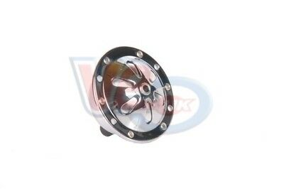 VESPA SUPER VBA VBB CHROME 6v AC HORN - PETAL DESIGN WITH BLACK CENTRE BADGE