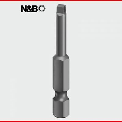 No2 x 50 Square Driver Bit - S2 Grey - 2SQ50PACK