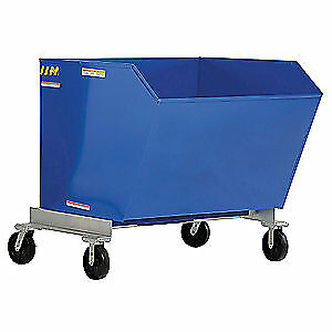 GRAINGER APPROVED Self-Dumping Hopper,1 cu. yd.,2000 lb., P-HOP-1