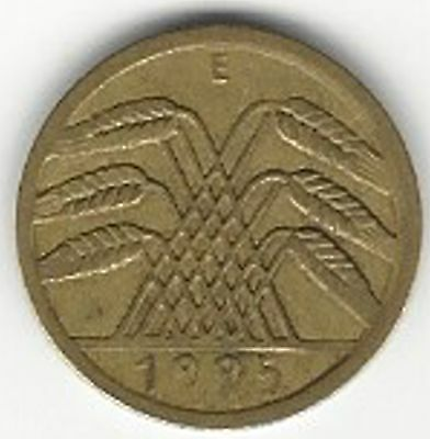 German Weimar Republic, 1925-E 5 Reichspfennig Coin...Great Coin !!!