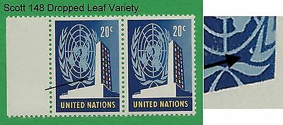 UN Scott #148 Dropped Leaf Variety Mint Never Hinged !!!