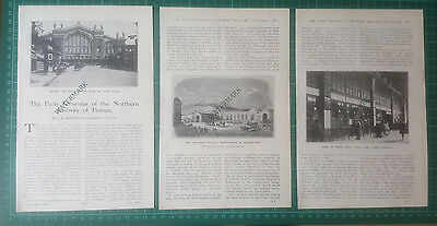 (1618) Paris Terminus Northern Railway Of France Gare Du Nord - 1926 Article