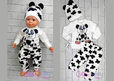 3pcs Cute Baby Boys Outfit Newborn Clothes Top Trousers Hat Shower Gift 3-6