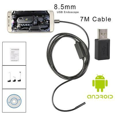 7M 6LED 8.5mm Android Endoscope Waterproof Snake Borescope USB Inspection Camera