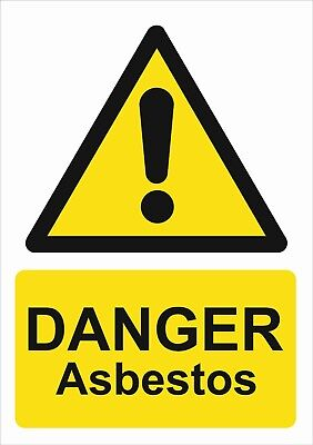 Danger Asbestos A5/a4/a3 Sticker Or Foamex-  Health & Safety Signs -Weatherproof