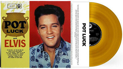 """Elvis Presley """" Pot Luck """" Sealed Euro Lp ** Yellow Vinyl ** Limited To 1000 Rsd"""