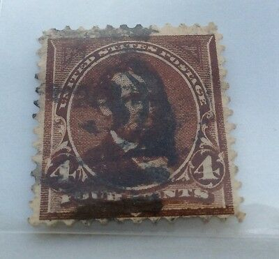 1894 USA Bureau Issue 4c brown Lincoln Stamp used
