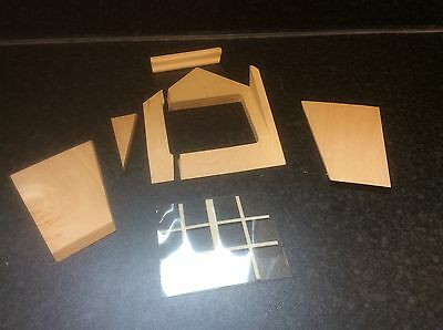 The Doll's House Emporium Dormer Window Kit + window pane plastic (used) damaged