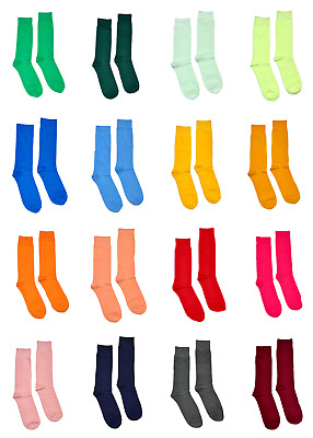 Men's Colorful Dress Socks Solid Color - Wedding Party Costume Prom Groomsmen