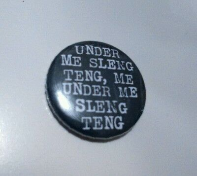SLENG TENG RIDDIM 25mm Pin Button Badge Wayne Smith reggae dub marley bob 420