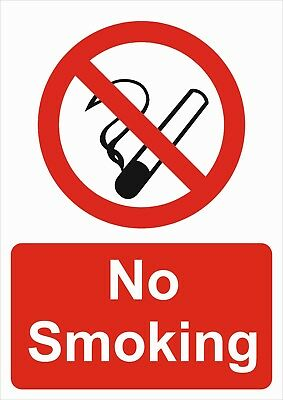 No Smoking A5/a4/a3 Sticker Or Foamex Health & Safety Prohibition Sign