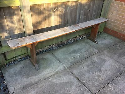 Antique 19th Century French Wooden Bench, Vintage / Antique Furniture