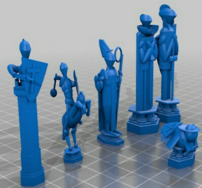 Wizard Chess Set Inspired by Harry Potter - 3D Printed