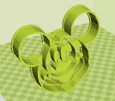 3D Printed Quality Mickey Mouse Cookie Cutter