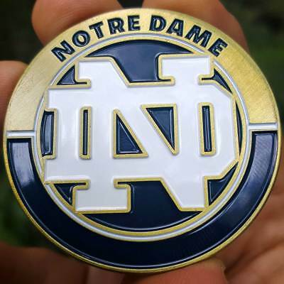PREMIUM NCAA Notre Dame Fightin' Irish Poker Card Protector Collector Coin