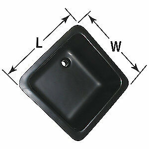 ORION Laboratory Sink,Poly,17 1/2 In W, ARLS 18, Black