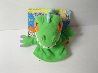 "Vintage 1999 Rugrats Mattel Reptar The Dinosaur 9"" Plush Toy Hand Puppet .e"