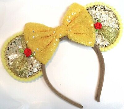 Beauty and the Beast Ears inspired Disney mickey mouse ears/ Belle Mickey Ears