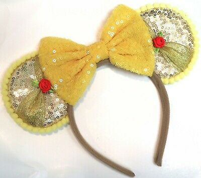 Beauty and the Beast Ears inspired Winnie the pooh mickey mouse minnie ears