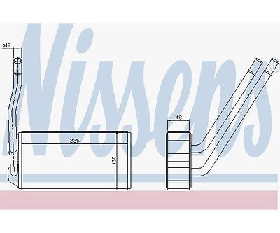 Nissens 73000 Heat Exchanger, Interior Heating