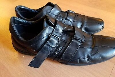 Geox Men s Casual Shoes Black Fashion Sneakers Leather Size 12.5 US 46 EU 3f8d9208449