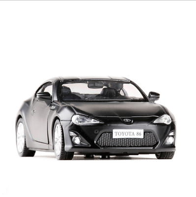 Toyota gt86 Model Cars 1:36 Toys Collections&Gifts Matte Black New Alloy Diecast