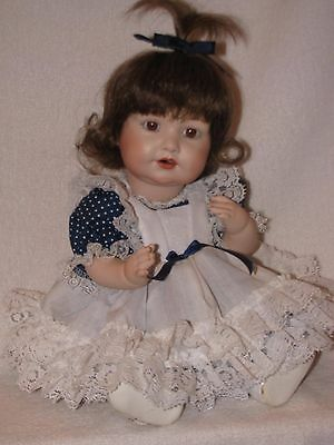 "Beautiful Artist Made 13"" All Bisque Hilda Baby Doll"