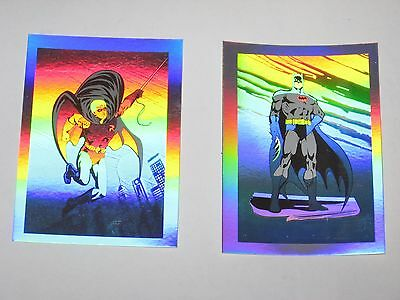 1991 DC Comics BATMAN Promo HOLOGRAM Card LOT! #1 #2 ROBIN! GOTHAM!