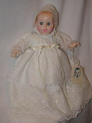 "12"" Gerber Baby Doll Wearing White Eyelet Gown 1976"