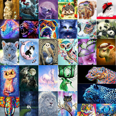 DIY 5D Diamond Painting Embroidery Flower Animals Cross Crafts Stitch Kit Decor