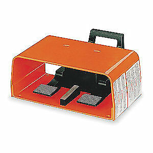 LINEMASTER Aluminum Gnrl Prps Foot Swtch,Momentary Action, 597-EX, Orange/Black