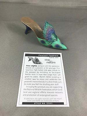 Retired 2002 Raine, Just The Right Shoe, JTRS, Peacock Feathers, COA, #25353