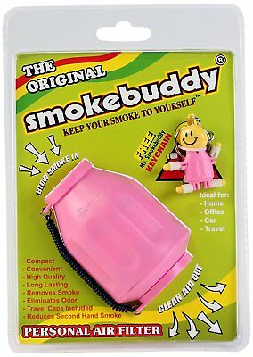 Smoke Buddy Personal Air Purifier Cleaner Filter Removes Odor (Pink)