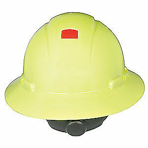 3M Hard Hat,4 pt. Ratchet,Hi-Vis Ylw, H-809R-UV, Hi-Visibility Yellow