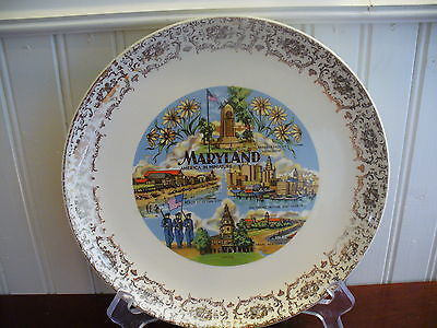 AMERICA IN MINIATURE! Vintage Porcelain Maryland State Plate