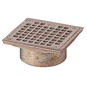 JAY R. SMITH MFG. CO Floor Drain Strainer,Square,6In, B06NB