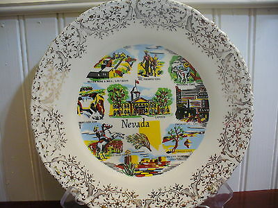 SILVER STATE! Vintage Porcelain Nevada State Plate