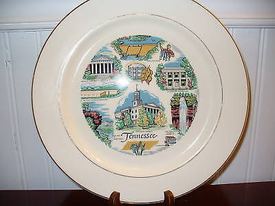 VOLUNTEER STATE Knowles Porcelain Tennessee State Plate