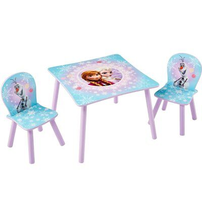 Disney Three Piece Kids Toddlers Children Table and Chairs Set Frozen WORL234027