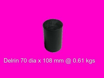 Black Acetal 70 dia x 108 mm-Engineers Plastic, Bush, Bearings and Gear
