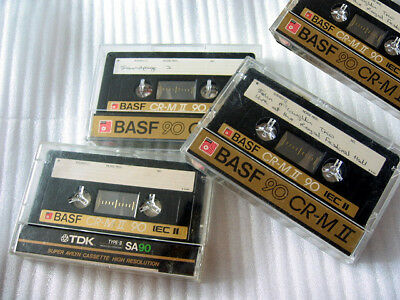 4x BASF CR-M II 90 Audio Cassette Recorder Tape Type II Hi Pos Chrome CRM IEC II