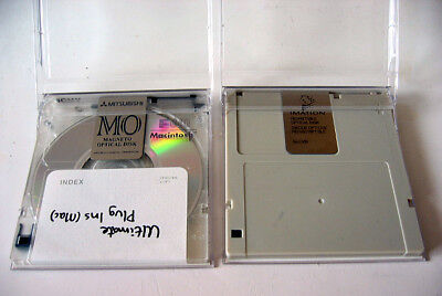 2x MO Disk 640MB Imation Mitsubishi MO Magneto Optical Disc PC Mac