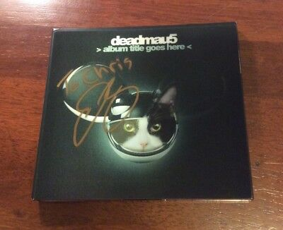Deadmau5 Signed Album Title Goes Here Cd *autographed* Dj Joel Zimmerman