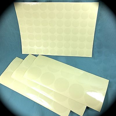 """Crystal Clear Glossy Round Transparent Seals Adhesive Stickers Combo 1-½"""" + 3/4"""""""